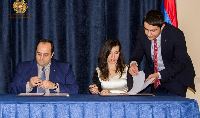 THE COMMISSION ON ETHICS OF HIGH-RANKING OFFICIALS AND THE MINISTRY OF JUSTICE OF ARMENIA HAVE SIGNED A MEMORANDUM OF COOPERATION
