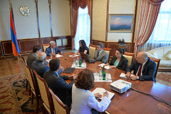 A Working Meeting with the President of the Republic Took Place